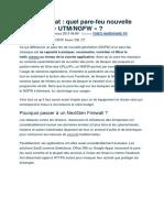 Guide de UTM