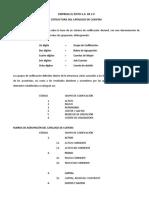 Catalogo de Cuentas Ejemplo
