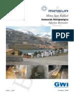 Estudio Hidrogeologico Mina San Rafael