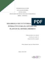 DESARROLLO DE UN TUTORIAL DIGITAL INTERACTIVO PARA EL ESTUDIO DEL PLANO EN EL SISTEMA DIÉDRICO