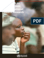 Ethical Issues in International Health Research