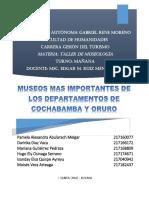 Museos de Cochabamba y Oruro