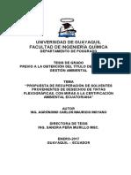 TESIS MGA 053_ Propuesta de Recuperación de Solventes Provenientes de Desechos de Tintas Flexográficas