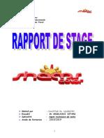 Rapport de Stage Agent de Vente