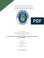 Procedimiento Acceso a La Autonomia y Elaboracion Estatuto y Carta Organica