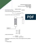 Primera etapa de producción de ácido sulfúrico