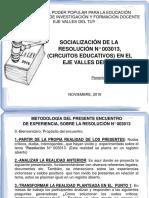 CIRCULAR N° 003013 (socialización desde la práctica docente )