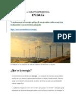 10 Características de La Energia