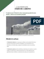 10 Características Del Dióxido de Carbono