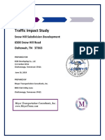 Impact Study-Snowhill Subdivision Traffic Study 6-9-19