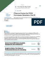6 Success Factors for ITSM Governance Structures