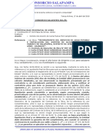 CARTA N° 003 -2019-CONSORCIO SALAPAMPA-SGL-RL(devolución C.Fianza)