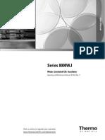 User Manual - Forma - 8000WJ Water Jacketed Incubator - 7013422r3