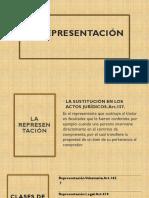 la representación- acto jurídico