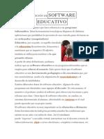 Definición de Software Educativo