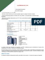 Baterias Iones de Litio (Li-ion)