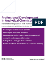 Applicationform Analytical Chemistry Courses 2009