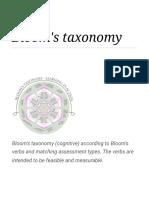 Bloom's Taxonomy - Wikipedia