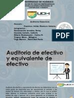 Auditoria de Efectivo y Equivalente de Efectvo