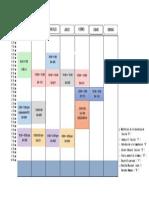 Cronograma Académico 2019-1