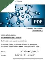 5.3-Electrolisis de NaCl(l) y NaCl(Ac). Electrolisis H2O(l).Ley de Faraday