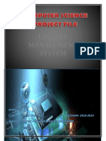 Library Management System for Computer Science project class 12
