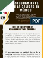 Aseguramiento de La Calidad en México