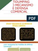 El Derecho Antidumping Como Mecanismo de Defensa Comercial