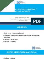 Curso para Aspirantes a Dirigencias Municipales Plan de Trabajo Programas Sociales