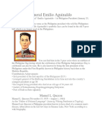 Philippine Presidents Contributions