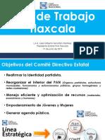 Curso para Aspirantes a Dirigencias Municipales Plan de Trabajo CDE Tlaxcala