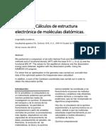 cálculos de estructura electrónica de moléculas diatómicas