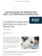 8 Elementos Para Implementar Una Campaña de Inbound Marketing