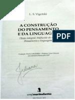 A Construção Do Pensamento e Da Linguagem - L. S. Vygotsky