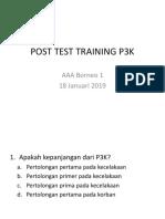 Soal Post Test Training P3k