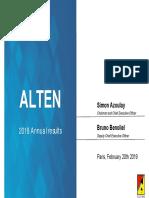 Presentation Annual Results 2018