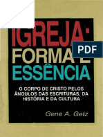 Igreja Forma e Essencia Gene a Getz