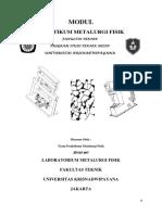 Modul Praktikum Metalurgi Fisik