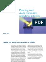 Audit Committee Calendar of Activities