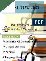 PPT Descriptive Text