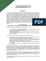 CONSTITUCIÓN FRANCESA DE  3 DE SEPTIEMBRE DE 1791