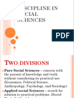 Discipline in Social Sciences