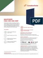 caracteristicas de panel solar