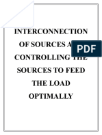 INTERCONNECTION OF SOURCES AND CONTROLLING THE SOURCES TO FEED THE LOAD OPTIMALLY