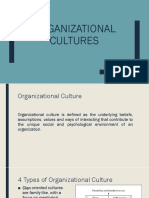 Organizational Cultures; Resource Policies and Practices