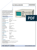 Metravi Analog Oscilloscope Ds