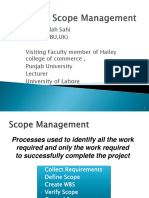 Project Scope Management Final