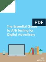 Guia de Marketing eBook Essential Guide a-B Testing Digital Advertisers 2017-01