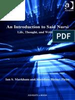 Ian S. Markham, Suendam Birinci - An Introduction to Said Nursi-Ashgate (2011)