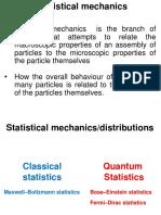 SUMSEM2-2018-19 ECE1006 ETH VL2018199000757 Reference Material I 02-Jun-2019 Statistical Mechanics Bose Einstein and Fermi Dirac Distributions